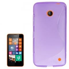 Чехол силиконовый для Nokia Lumia 630 фиолетовый