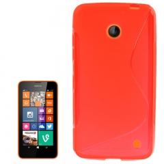 Чехол силиконовый для Nokia Lumia 630 красный
