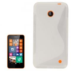 Чехол силиконовый для Nokia Lumia 630 белый
