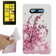 Чехол силиконовый для Nokia Lumia 820 Цветочки