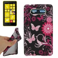 Чехол силиконовый для Nokia Lumia 820 Бабочки