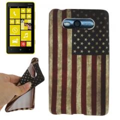 Чехол силиконовый для Nokia Lumia 820 Американский флаг