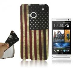 Чехол силиконовый Американский Флаг для HTC One