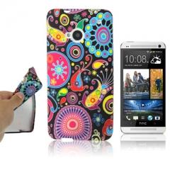 Чехол силиконовый с узором для HTC One