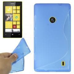 Чехол силиконовый для Nokia Lumia 520 синий