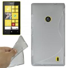 Чехол силиконовый для Nokia Lumia 520 серый
