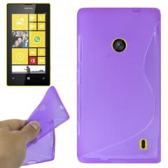 Чехол силиконовый для Nokia Lumia 520 фиолетовый