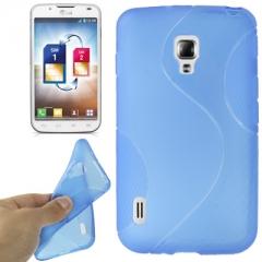 Чехол силиконовый для LG Optimus L7 2 синий