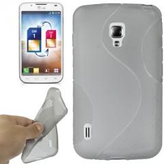 Чехол силиконовый для LG Optimus L7 2 серый