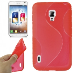 Чехол силиконовый для LG Optimus L7 2 красный