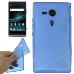 Чехол силиконовый для Sony Xperia SP синий