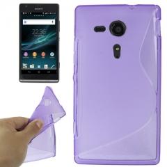 Чехол силиконовый для Sony Xperia SP фиолетовый