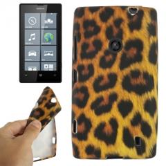 Чехол силиконовый для Nokia Lumia 520 Леопард