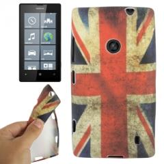 Чехол силиконовый для Nokia Lumia 520 Британский флаг
