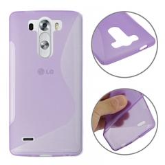 Чехол силиконовый для LG G3 фиолетовый