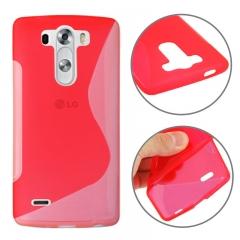 Чехол силиконовый для LG G3 красный