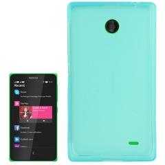 Чехол силиконовый для Nokia Lumia X голубой