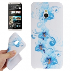 Силиконовый чехол для HTC One Mini с цветочками