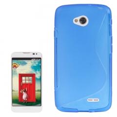 Чехол силиконовый для LG L70 синий