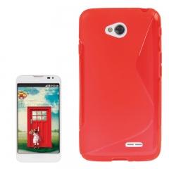 Чехол силиконовый для LG L70 красный