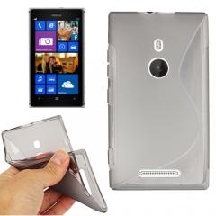 Чехол силиконовый для Nokia Lumia 925 серый