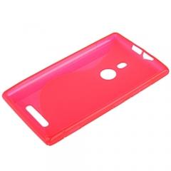 Чехол силиконовый для Nokia Lumia 925 розовый
