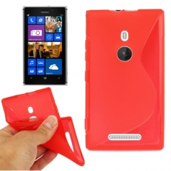Чехол силиконовый для Nokia Lumia 925 красный