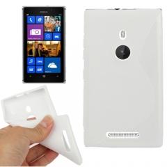 Чехол силиконовый для Nokia Lumia 925 белый