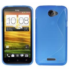 Чехол силиконовый для HTC One X синий