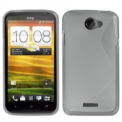 Чехол силиконовый для HTC One X серый