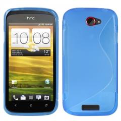 Чехол силиконовый для HTC One S синий
