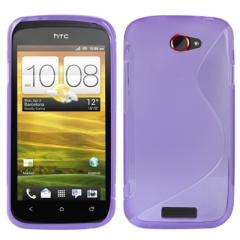 Чехол силиконовый для HTC One S фиолетовый