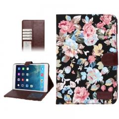 Чехол Цветочки для iPad Mini черный