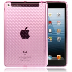 Силиконовый чехол 3D для iPad Mini розовый