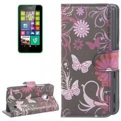 Чехол книжка для Nokia Lumia 630 Бабочки