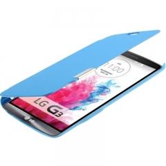 Чехол книжка для LG G3 голубой