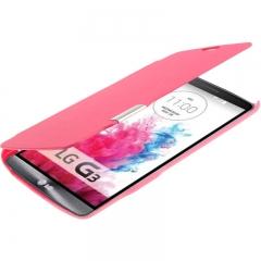 Чехол книжка для LG G3 розовый