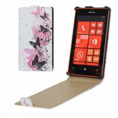 Чехол книжка на Nokia Lumia 520 с Бабочками