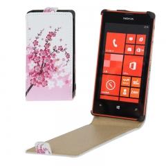 Чехол книжка для Nokia Lumia 520 Сакура