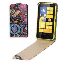Чехол книжка для Nokia Lumia 620 узор