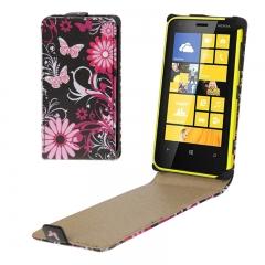 Чехол книжка для Nokia Lumia 620 Бабочки