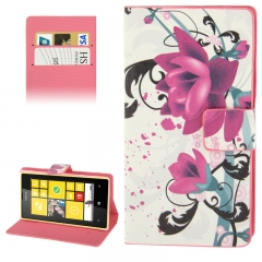 Чехол книжка Цветок на Nokia Lumia 520