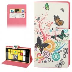 Чехол книжка Бабочки на Nokia Lumia 520