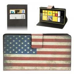 Чехол книжка Американский флаг на Nokia Lumia 520