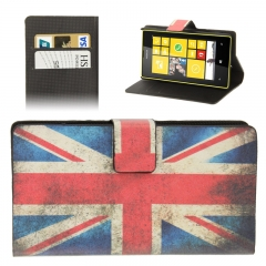 Чехол книжка Британский Флаг на Nokia Lumia 520