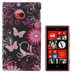 Чехол Бабочки для Nokia Lumia 720 черный