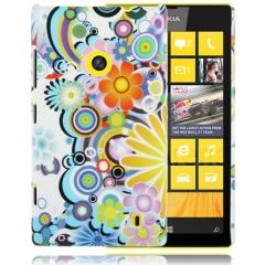 Чехол Узор для Nokia Lumia 520 белый