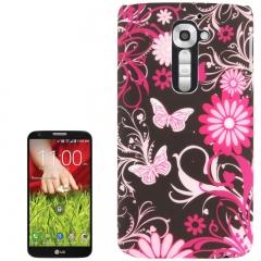Чехол для LG G2 Бабочки черный