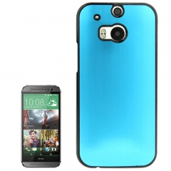 Чехол металлический для HTC One M8 голубой