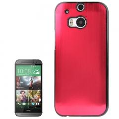 Чехол металлический для HTC One M8 красный